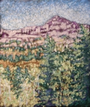 Crowsnest Fall No1-Original Oil Pastel-10.5x5.5