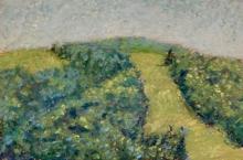 Way Up Top-Original Oil Pastel-7x5-Sold
