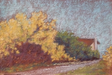 Back Lane to Farm-Original Soft Pastel-7x5
