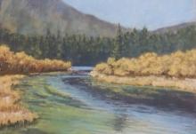 Crowsnest Lake Fall- Original Soft Pastel-10.5x 8