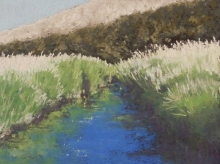 Down In The Coulee-Original Soft Pastel-9.5 x 7.5