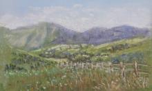 Mountain View-Original Soft Pastel-7x 5