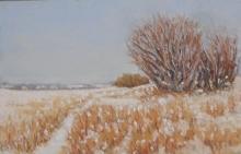 Winter Willows-Original Soft Pastel-10x7.5