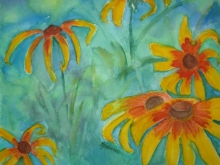 Black-eyed Susans-Original Watercolour-12x9