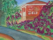 Costa Rica Villa-Original Watercolour-12x9-Sold