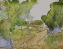 Farm Lane-Original Watercolour-4x6