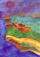 Les-baux Provence No1-Original Watercolour-12x9-Sold