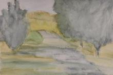 Park Path-Original Watercolour-4x6