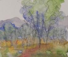 Pasture-Original Watercolour-4x6